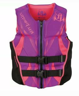 Full Throttle Women's Hinged Rapid-Dry Flex-Back Vest, Purpl