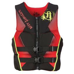 Full Throttle Men's Hinged Rapid-Dry Flex-Back Life Vest, Sm
