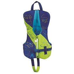 Full Throttle Infant Hinged Rapid-Dry Flex-Back Vest, Green/