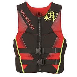 Full Throttle Men's Hinged Rapid-Dry Flex-Back Vest Red-XL S