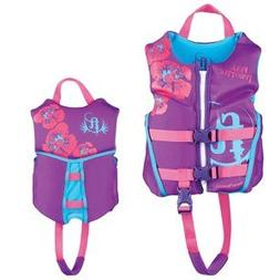 Full Throttle Child Hinged Rapid-Dry Flex-Back Vest, Purple/