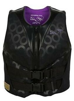 HO Sports HO Skis Life Jacket Vest Ladies Form Fit Black and