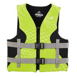 Stearns Hydroprene Green/Black adult Boating Vest Life Jacke
