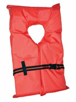 Type II Orange Life Jacket Vest PFD - Adult Universal - Coas