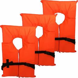 Hardcore Water Sports 6 Pack Type II Orange Life Jacket Vest
