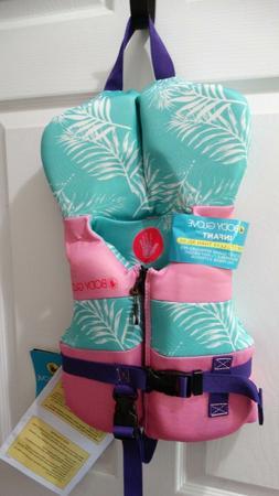 Body Glove Infant Girls Life Jacket US Coast Guard PFD NEW l