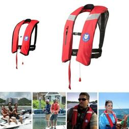 Inflatable Life Jacket Adult Automatic/Manual Boating Vest P