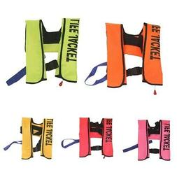 Inflatable Life Jacket Professional Adult Swim Fish Water Sp