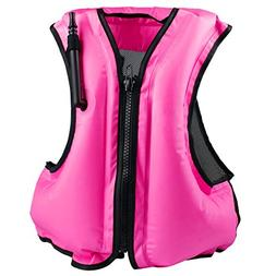 Faxpot Inflatable Life Jacket Adult Swimming Vest for Snorke