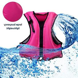 Kingswell Kids Inflatable Life Jacket Teens Swim Vest For Yo