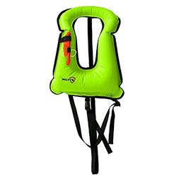 Eyson Inflatable Snorkel Life Jacket, Buoyancy Water Sport S