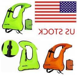 KUYOU Inflatable Snorkel Vest Adult Life Jackets for Snorkel