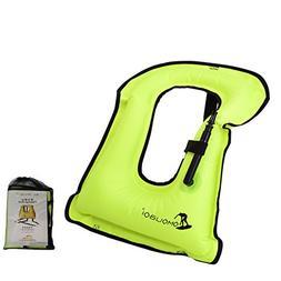 Kingswell Kids Inflatable Snorkel Vest Portable Swim Vest Li