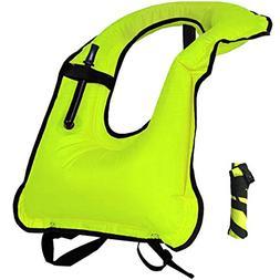 Lesberg Inflatable Snorkel Vest Adult Life Jackets Free Divi