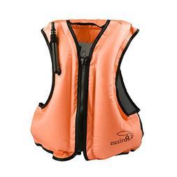 Rrtizan Adult Inflatable Swim Vest Life Jacket for Snorkelin