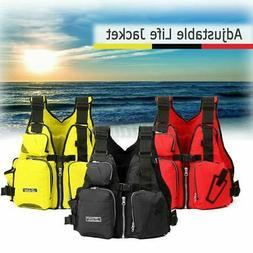 Kayak Fishing Life Jacket Adult Aid Surfing Boating Water Sa