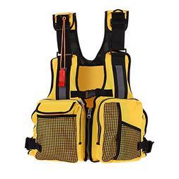 VGEBY Kayaking Fishing Life Jacket Multi-Pockets Watersports