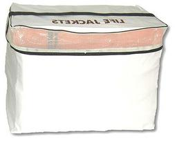 Kent White Vinyl Life Jacket Vest Bag - Holds 6 Type II Vest