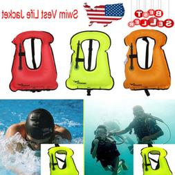 Kids/Adults Inflatable Life Jacket Vest for Travel Surfing S