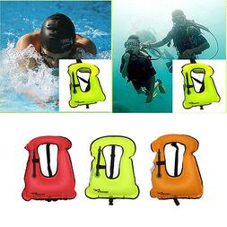 Kids/ Adults Inflatable Life Jacket Vest for Snorkeling Surf
