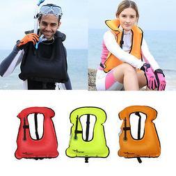 Kids/Adults Life Jacket Snorkeling Swimwear Inflatable Life
