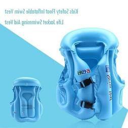 Kids Inflatable Life Jacket Safety Floating Swimming Outdoor