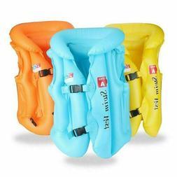 Kids Inflatable Swim Vest Life Jacket Beach Tourism Swimming