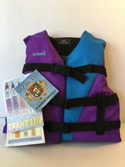 Kids Life Jacket Boat Swimming Swim Vest Stearns 50-90 LBS M