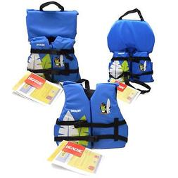 Kids Life Jacket Boat Swimming Swim Vest Blue Penguin Surfer