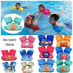 Kids Toddler Life Jacket Swim Vest Arm Bands Swimming Pool W