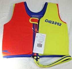 Speedo Kids UPF 50+ Begin to Swim Classic Swim Vest Lime/Ora