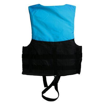 2pcs/Set Kids Life Jacket Vest Jet Ski L+M Blue