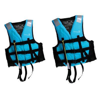 2pcs set adult kids life jacket vest