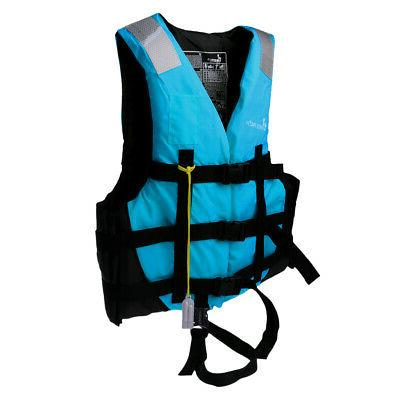 2pcs/Set Adult Kids Jacket Vest Jet Ski Surfing L+M Blue