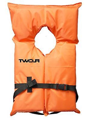 Flowt 40000-UNV AK-1 Type II Life Jacket, Orange, Adult Univ