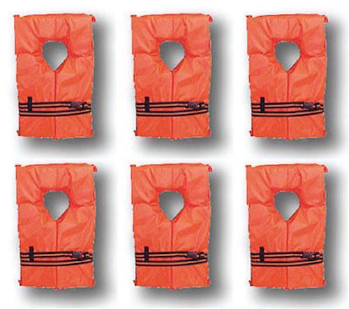 6 pack life jacket vest preserver type