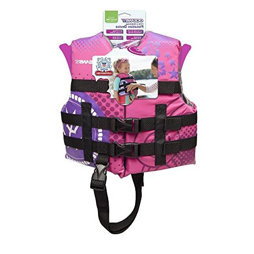 Oceans7 US Approved, Child Jacket, Type Vest, Personal Device, Size Pink/Raspberry,
