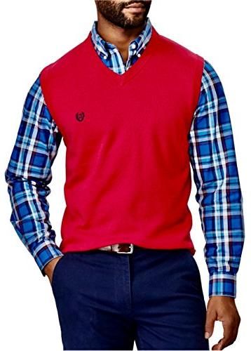Chaps Mens Big /& Tall Kent Pull-Over Sweater Vest