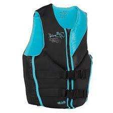 O'Brien Focus Women's Neoprene Life Jacket, Aqua, X-Small