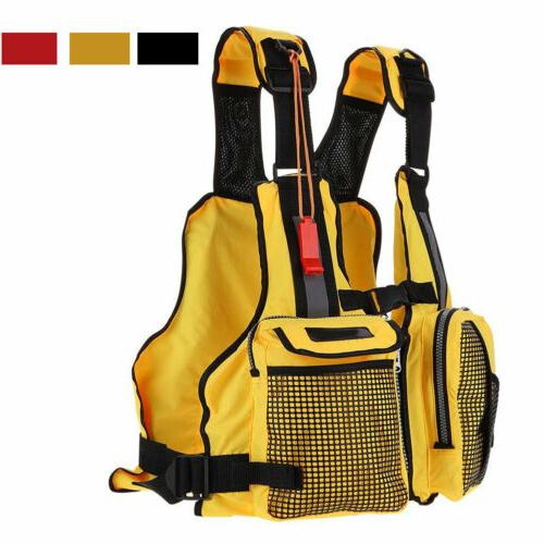 adjustable kayak fishing swimming life jacket rafting