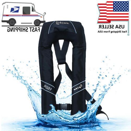 Adjustable Manual Life Jacket Vest Buoyancy Swimming Surfing