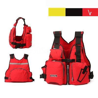 Adult Adjustable Buoyancy Sail Fishing PFD Life Jacket