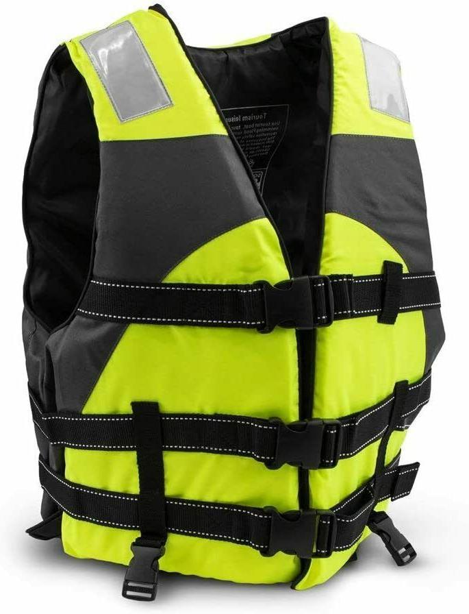 Adult Adjustable Fishing Jacket Swiming Vest Kayak Boat Sailing