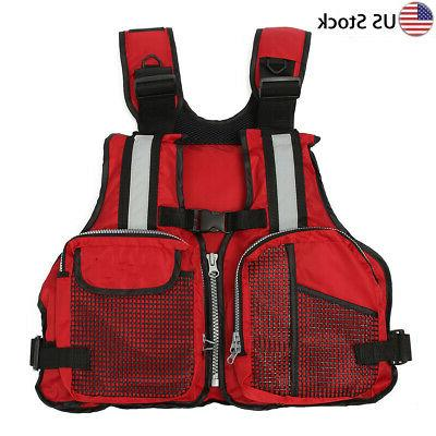 Red Adult adjustable Buoyancy Sail Kayak Canoeing Fly Fishin
