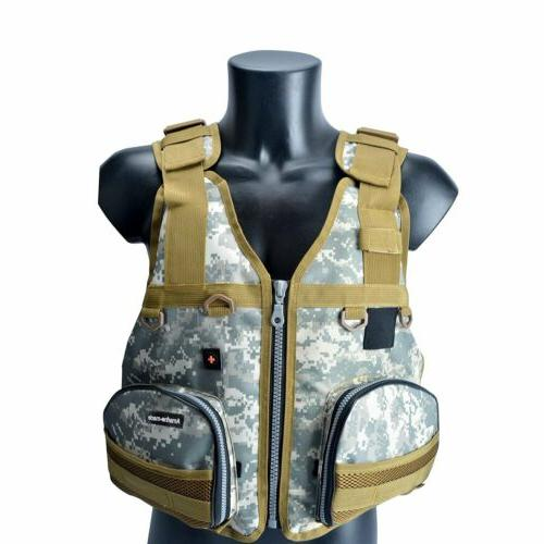Adult Adjustable Marine Reflective Sailing Fly Vest Life Jacket