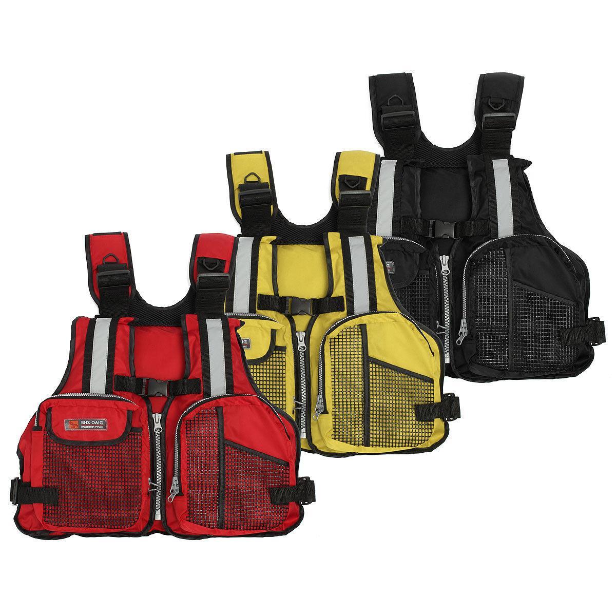Adjustable Adult/Kid Life Vest Marine Reflective Kayak
