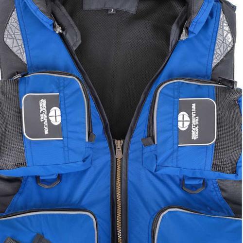 Adult Adjustable Jacket Vest Boating Fishing Drift