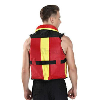 Adult Aid Life Jacket Kayak Safety Vest Fishing Swimming u