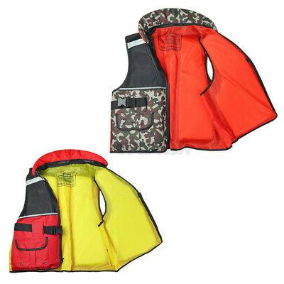 Adult Aid Kayak Water Vest Fishing Boating Swimming u