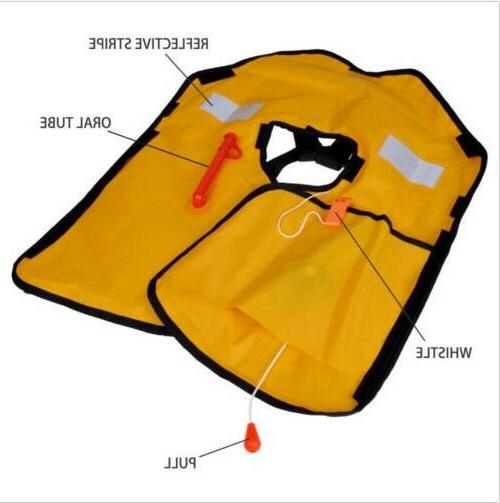 Adult Automatic Manual Inflatable Jacket PFD